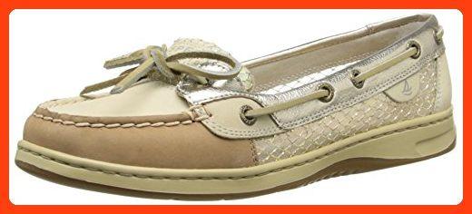 Sperry Top-Sider Women's Angelfish Metallic Mesh Boat Shoe, Linen/Platinum, 5.5 M US (*Partner Link)