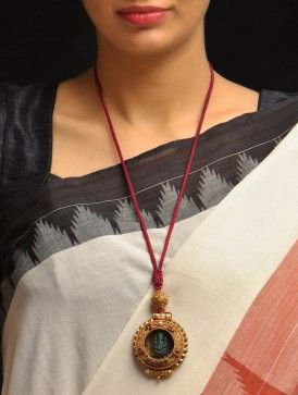 Ganesha Coral-Turq Necklace