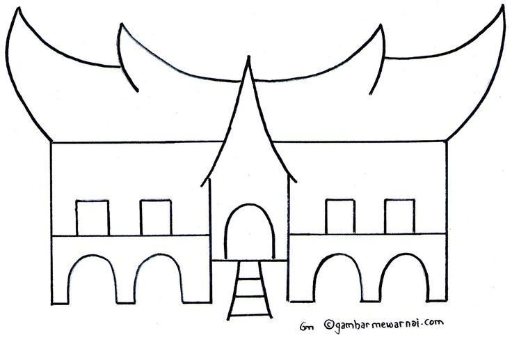 Coloring Ideas Gadang Traditional House Coloring Pages Coloring