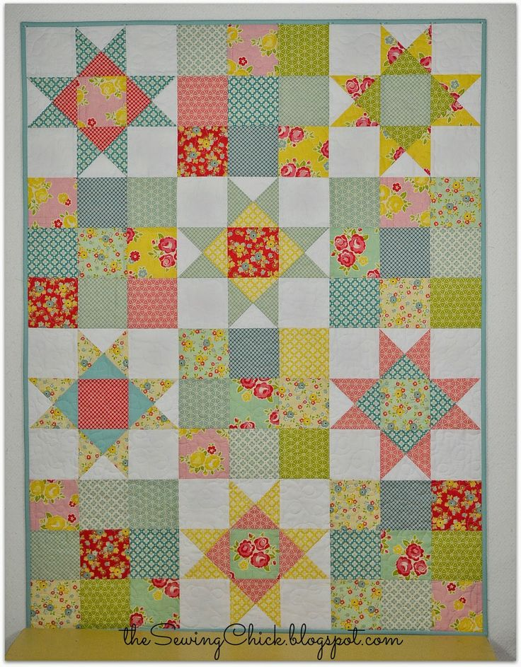 A Finished Quilt - Happy Baby II - The Sewing Chick
