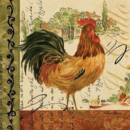 Viva Italia Roosters III by Gladding, Pamela
