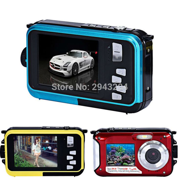 Cheap digital camera, Buy Quality camera hd directly from China screen camera Suppliers: Dual Screen Camera HD LCD Screen 16X Digital Zoom 24MP Max Waterproof Diving 3M Digital Camera+8GB 16GB SD Card