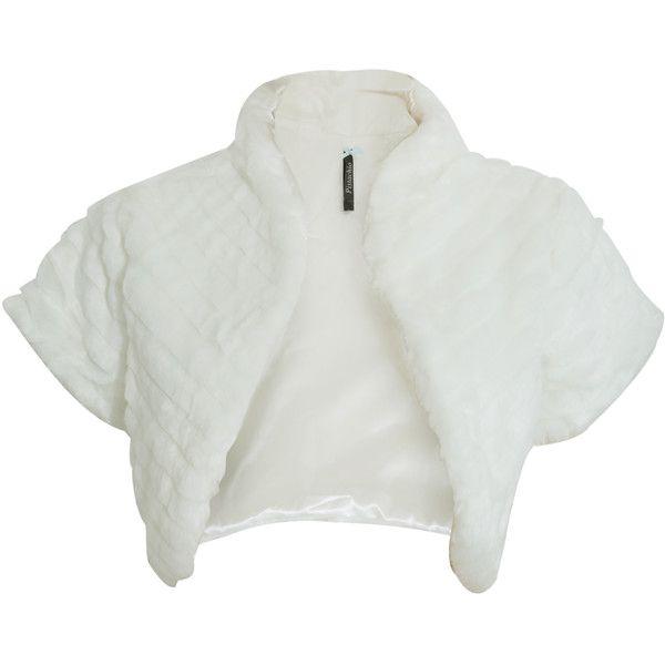 Womens/Ladies Faux Fur Shrug/Bolero Jacket ❤ liked on Polyvore featuring…