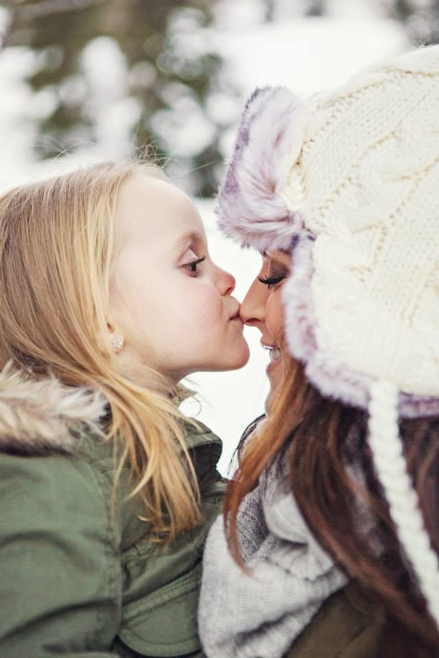 Winter Family Photos Mother Mom Daughter Girl Wife
