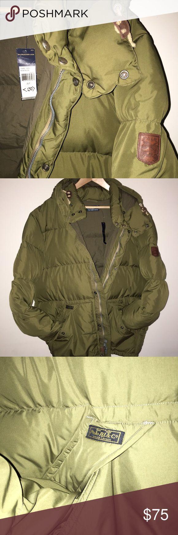Polo by Ralph Lauren goose coat 2XL TALL (big&tall) - military green - detachable hood Polo by Ralph Lauren Jackets & Coats Puffers