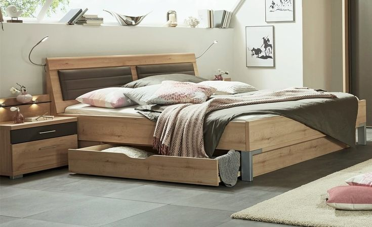 Usual stylform juno storage bed in bianco beech finish