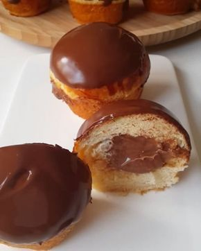 """26.6k Likes, 648 Comments - Merve Ünal (@pacikanin_mutfagi) on Instagram: """"Hayırlı geceler  Ama bu çok güzel oldu ya  Yumuşacık bir hamur düşünün içinden çikolatalı krema…"""""""