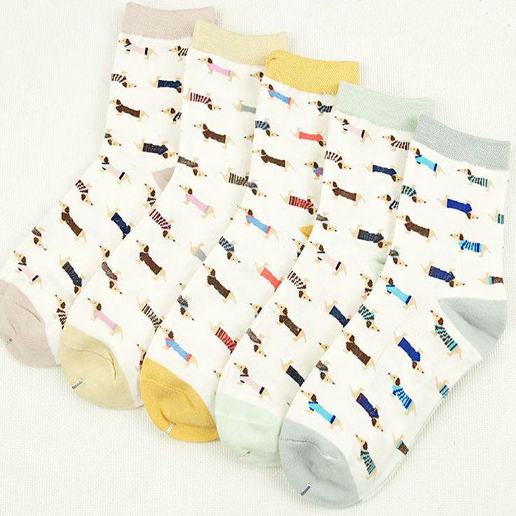 [Cosplacool] nuevo color caramella calcetines ocasionales del algodón de las mujeres calcetines happy socks calle harajuku marea