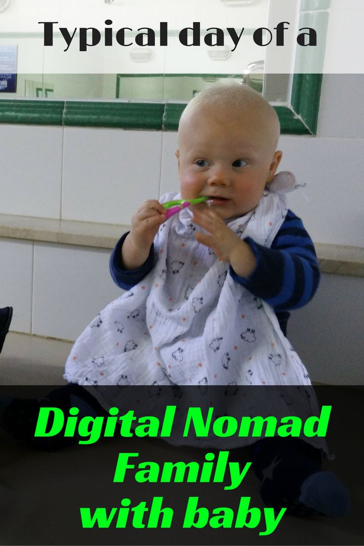Typical day of a digital nomad family with baby | traveling full time with a caravan through Europe