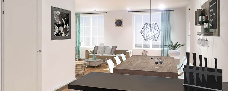 Artist impression van een woonkamer #interieur #inspiratie