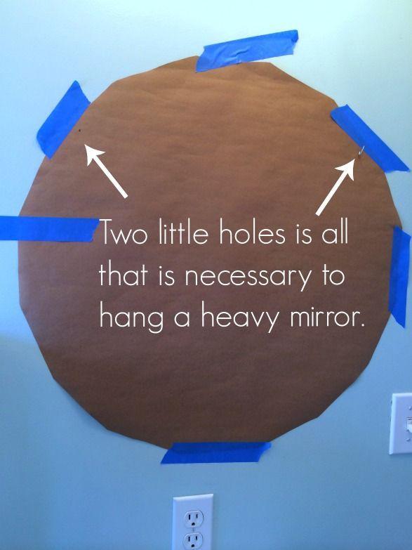 25 Best Ideas About Hanging Heavy Mirror On Pinterest