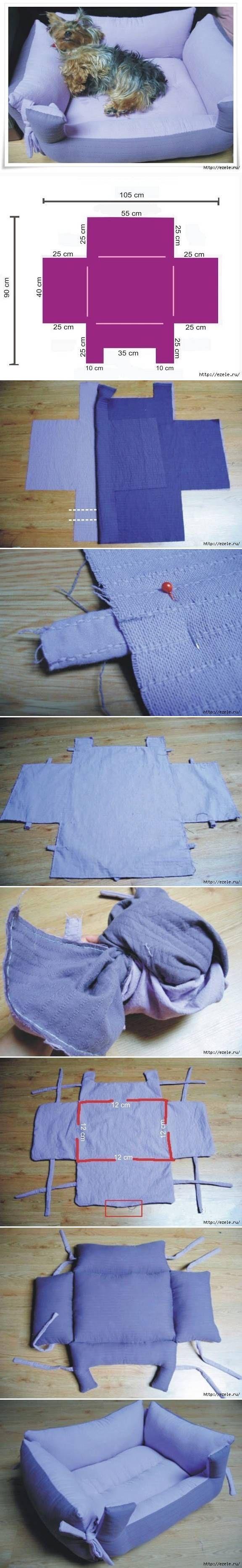 DIY Pet Pillow Bench DIY Projects
