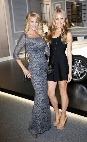 Christie Brinkley and Sailor Cook. She's 50 and she looks like that?! Perfect.