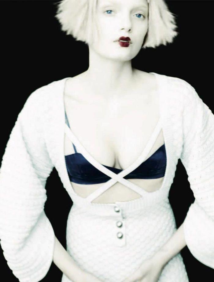 Lily Donaldson is A Pale Beauty for Ben Hassetts Numéro #134 Shoot