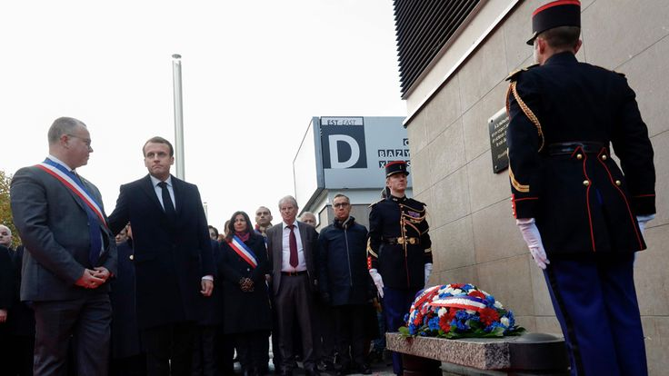 Macron honours victims of Paris jihadist attacks https://tmbw.news/macron-honours-victims-of-paris-jihadist-attacks  French President Emmanuel Macron and other dignitaries are attending ceremonies in Paris honouring the victims of Islamist terror attacks in the city two years ago.A suicide bombing and mass shootings killed 130 people and wounded hundreds.The first ceremony was at the Stade de France, where three suicide bombers blew themselves up after failing to get into a France v Germany…