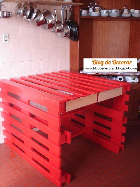 Blog de Decorar: E o passo-a-passo de como fazer a mesa-pallet-da-concórdia tá entregue! hehe