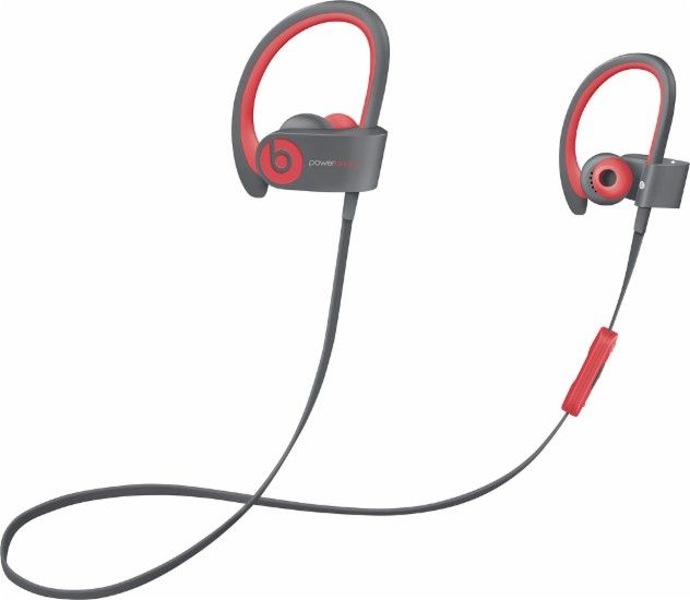 Beats by Dr. Dre - Powerbeats2 Wireless Earbud Headphones - Red - Front Zoom