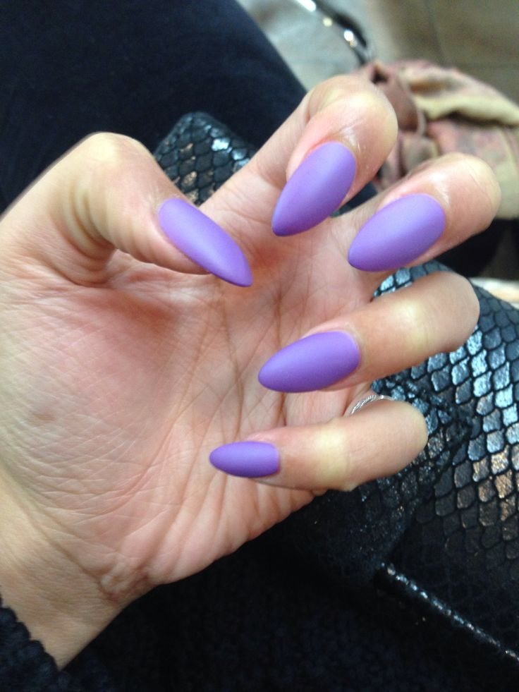 Stilettos Nails Purple  Nails Stilettos  Fab Nails  Gorgeous NailsLight Purple Stiletto Nails