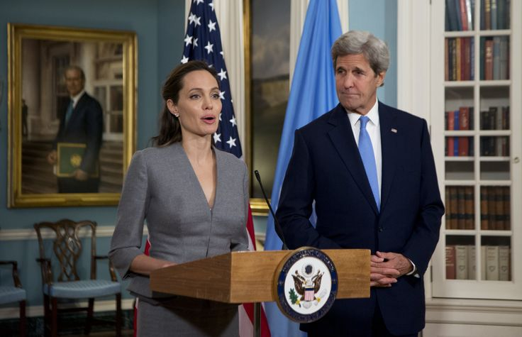 American values require the admission of more Muslimrefugees, declared celebrity leftist Angelina Jolie at an Islamic event on Monday in Virginia. The Hollywood face of the UN's refugee bureaucracy, she joined Secretary of State John
