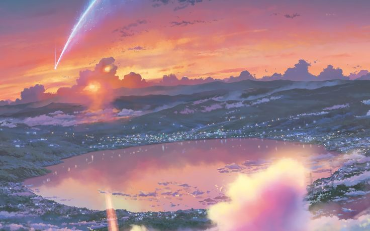 Anime Your Name. Kimi No Na Wa. Fondo de Pantalla Fondos