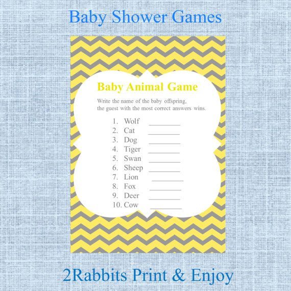 Baby Shower Game Name The Baby Animal: 1000+ Images About Baby Shower