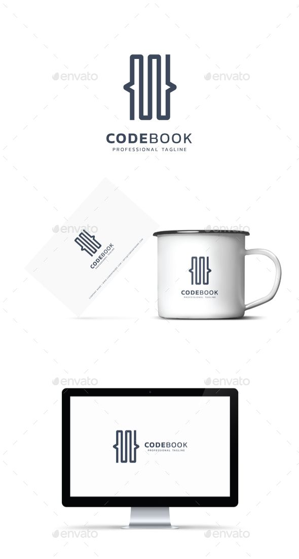 Code Book Logo #site #web  • Download here → https://graphicriver.net/item/code-book-logo/21046377?ref=pxcr