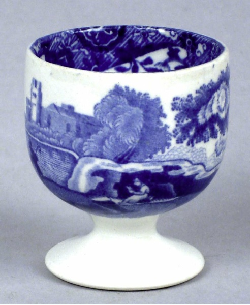 Blue Willow Egg Cup, large