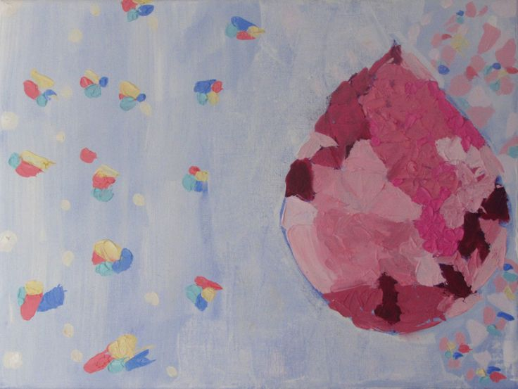 """Anita Varas. """"Hacia la luz"""". Óleo sobre tela, 30 x 40 cm. 2015."""