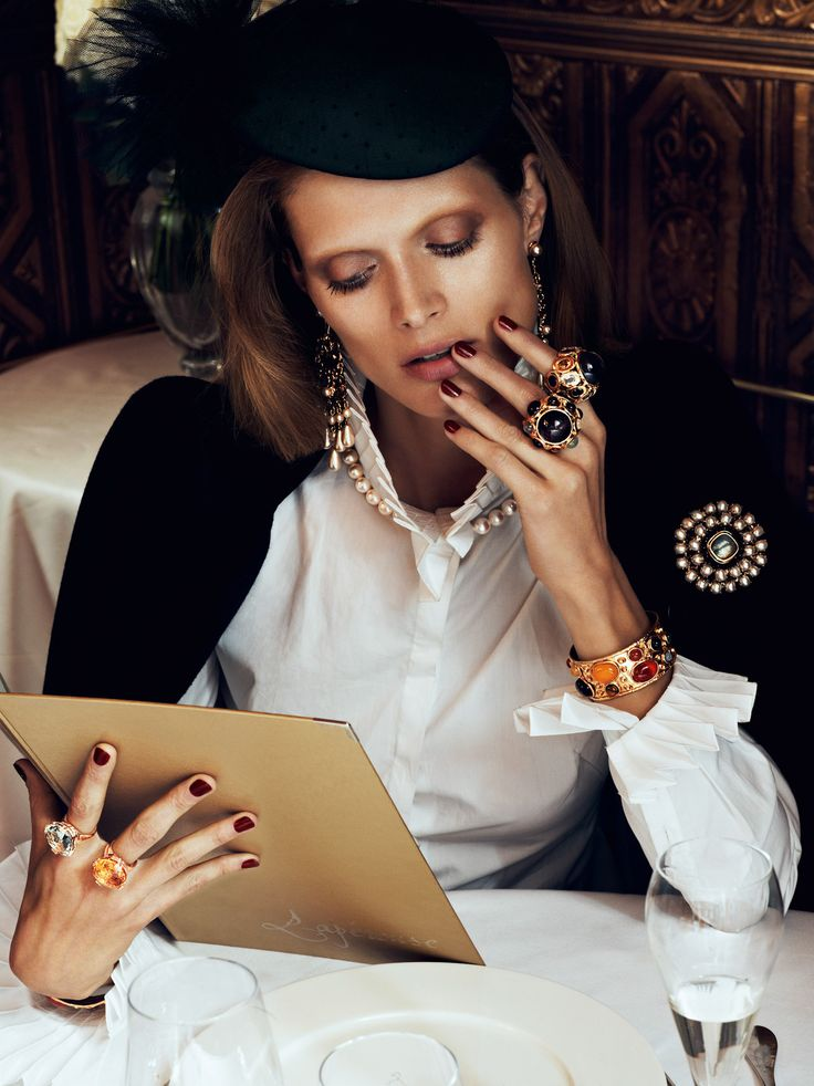 the brooch + cocktail rings galore.: Malgosia Advocate, Ultimate Spider-Man, Fashion, Chic Ultimate, Style, Auguste 2012, Vogue Paris, Lachlan Baileys, Paris Auguste