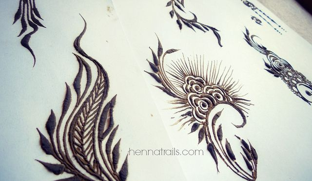 henna on paper by Henna Trails, via Flickr
