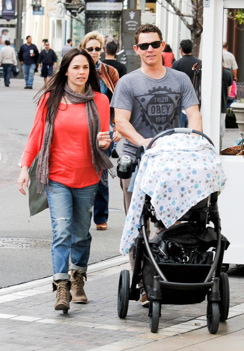 Shawn Hatosy steps out with the family at The Grove [USA ONLY]