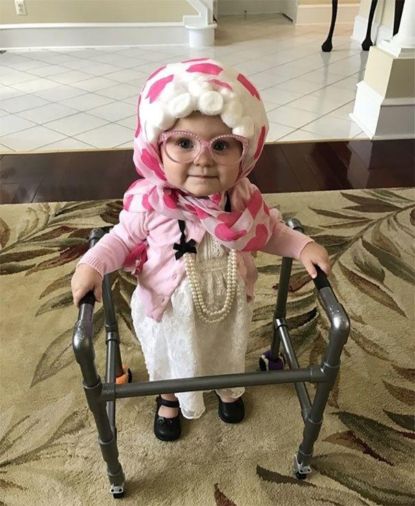 Crazy Cat Lady Girls Child Funny Old Grandma Halloween Costume