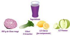 Prolongez votre détox avec ce délicieux jus au choux rouge que vous pourrez très facilement préparer avec votre extracteur de jus !
