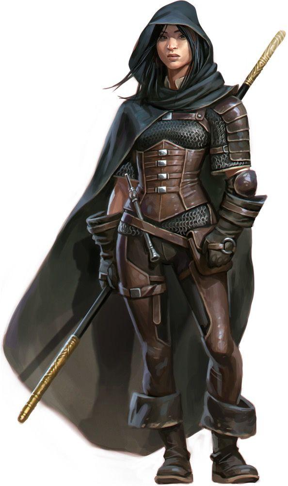 RPG Female Character Portraits : Amaya Kaijitsu by Eric Belisle / Paizo