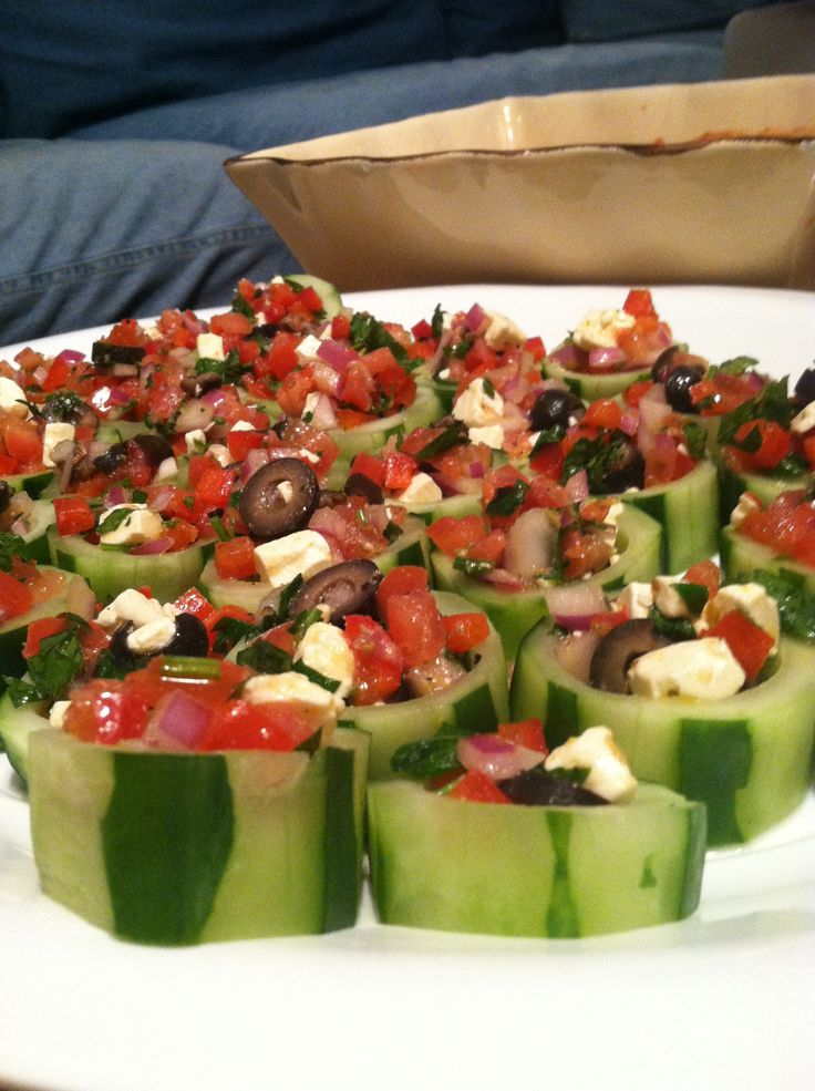PARTY PACKAGE!!! Post #4: Mediterranean Cucumber Bites