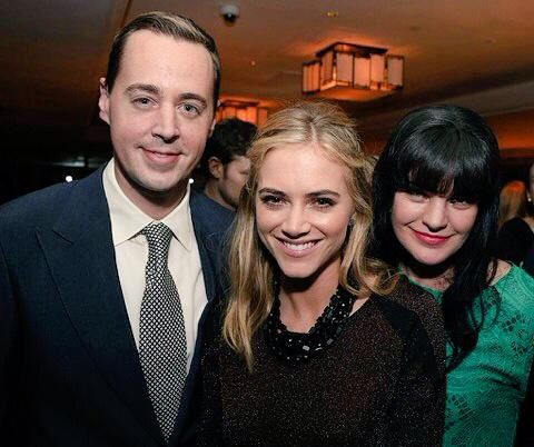 Photo of Emily Wickersham & her friend  Sean Murray