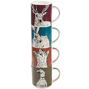 Into the Wild' Set of 4 Stacking Mugs #kaleidoscope #home