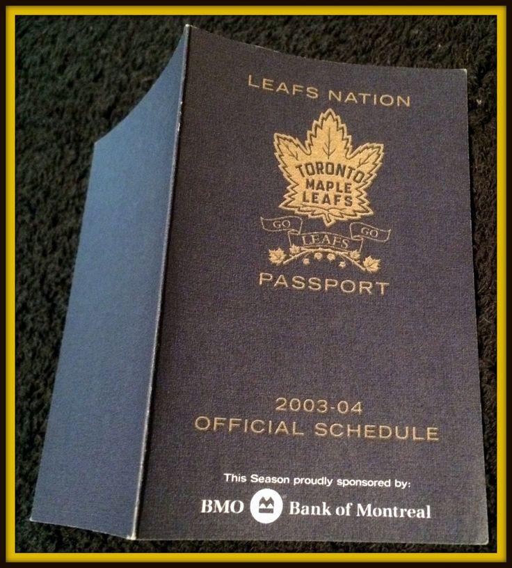 2003-04 TORONTO MAPLE LEAFS BANK OF MONTREAL HOCKEY POCKET SCHEDULE PASSPORT #Pocket #PocketSchedules
