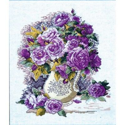 China Rose Counted Cross Stitch Kit