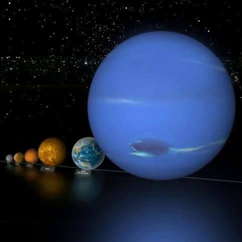 neptune compared to other planets - photo #7