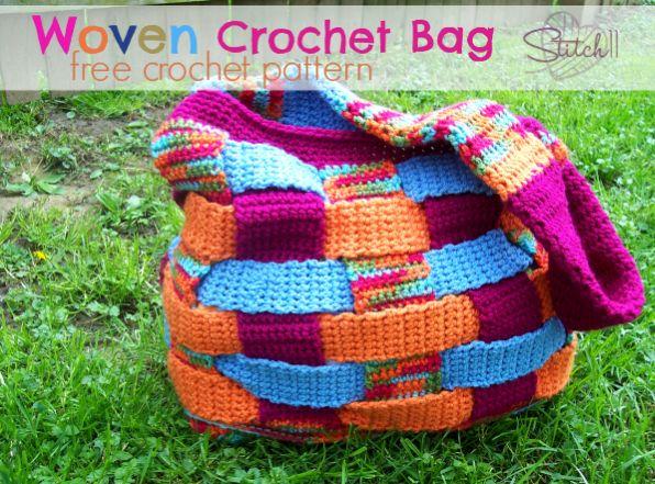 Woven – Crochet Bag – Free Crochet Pattern