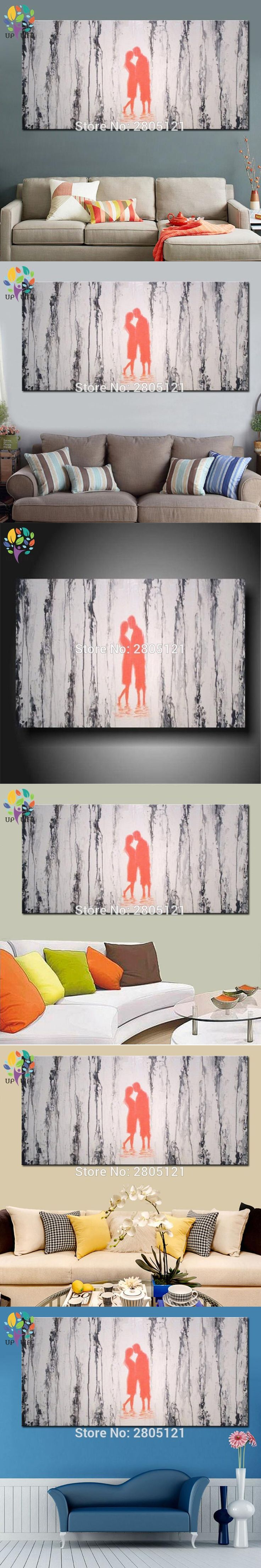 Hand painted lover Oil Painting On Canvas Abstract banksy Wall Art gray Home Decoration picture for Sitting Room Cuadros Decor