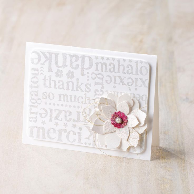 A World of Thanks Wood-Mount Background Stamp by Stampin' Up!