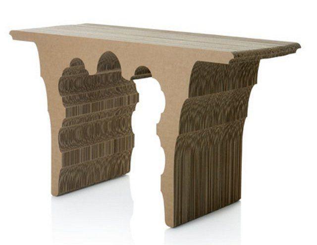 card board furniture. cardboard table sanserif creatius card board furniture