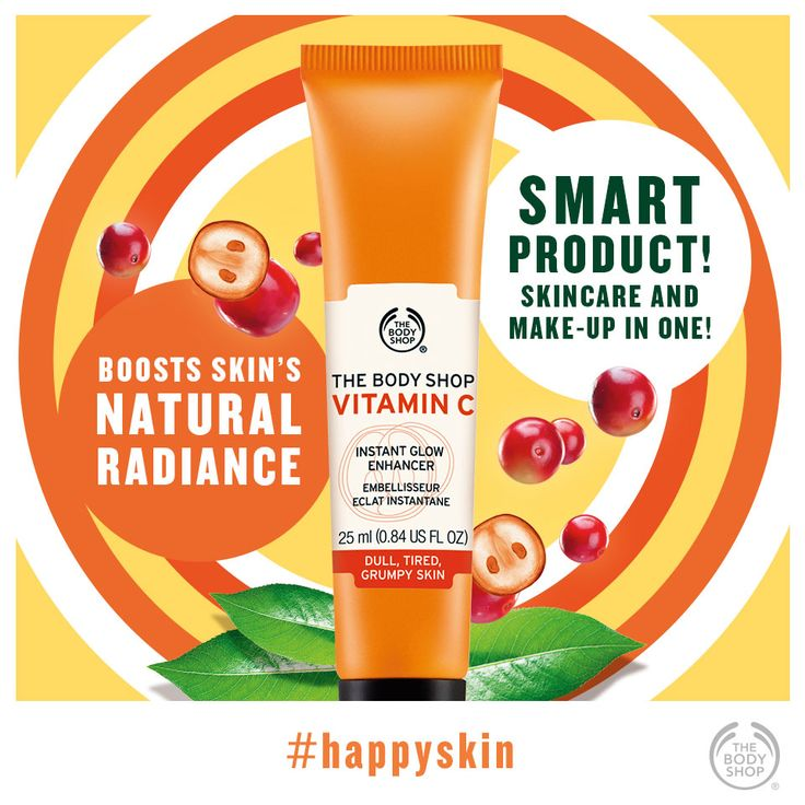 It's a burst of peachy radiance in a tube! Seriously. #potw #happyskin #healthyglow #vitaminc #glowingskin http://www.thebodyshop.co.za/store/product/vitamin-c-instant-glow-enhancer