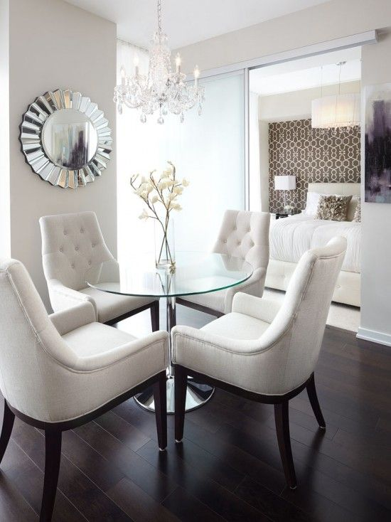 White Round Modern Dining Table best 25+ glass dining table ideas on pinterest | glass dining room