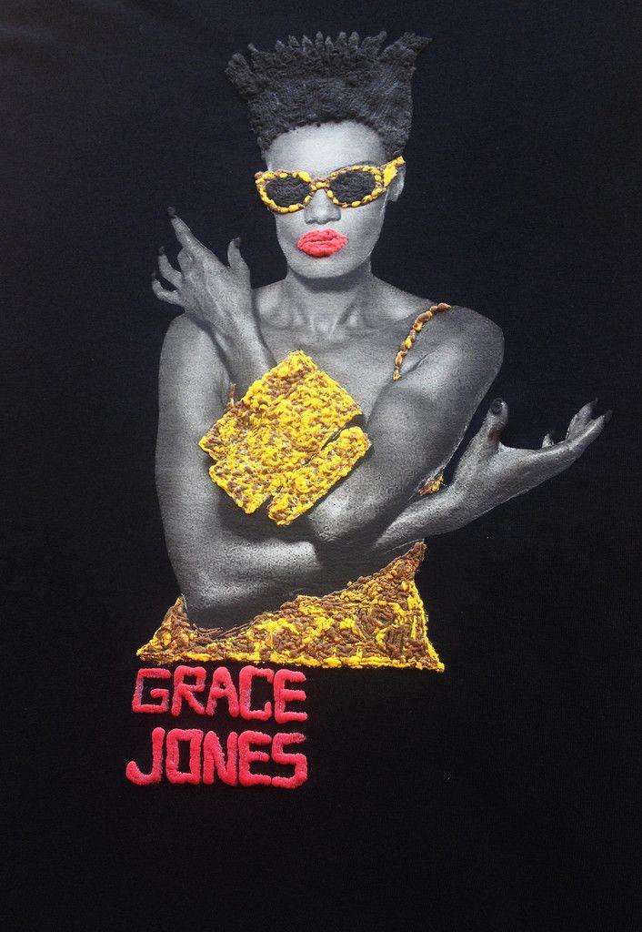 GRACE JONES Shirt T-shirt Leopard Painting 3d