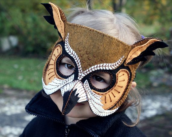 Beautiful felt mask patterns. Stunning https://www.etsy.com/listing/116371119/owl-mask-pdf-pattern?ref=shop_home_active