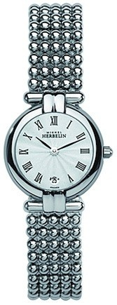 Michel Herbelin Ladies Silver Dial Perle Bracelet Watch 16873/B08