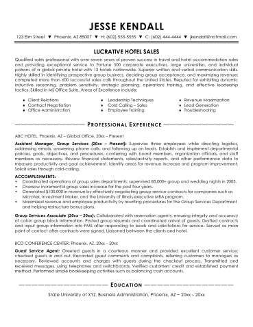 Hotel Sales Manager Resume Jk Perfect Career Sales Manager Resume